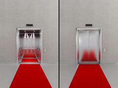 Hissi punaisella matolla Piirros