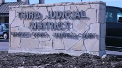 Third Jusdicial District Sign Stock Footage