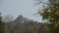 Great Wall on mountain peak,China ancient architecture,fortress. Stock Footage