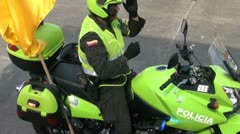 Police Motorcycles, Officers, Safety Patrol Stock Footage