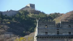 Great wall,China ancient architecture. Stock Footage