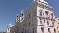 Mafra National Palace, Portugal - tilt up. Stock Footage