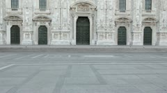 Duomo cathedral, Milan Stock Footage