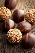 Chocolate pralines Stock Photos