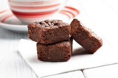 chocolate brownies dessert - stock photo