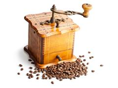 Antique coffee mill Stock Photos