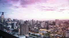 Chicago Skyline at Sunset #2 Stock Footage