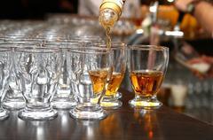 brandy glass - stock photo