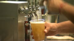 Beer concession Stand closeup Stock Footage