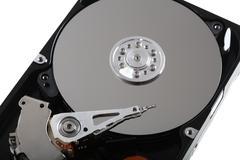 Hard disk  on white Stock Photos