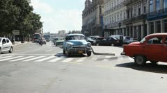 Havana Cuba Road Junction Stock Footage