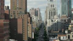 city. nyc new york. skyline skyscrapers. areal view.1080 HD. urban district - stock footage