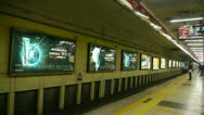 Beijing subway station,busy people crowd inside of train in modern urban city. Stock Footage