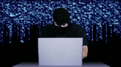 Hacker Working Table Arrested 4 720 - stock footage