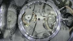 Clock mechanism works fine Stock Footage