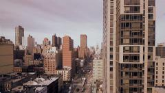 City. nyc new york .skyline skyscrapers towers. aerial view. Stock Footage