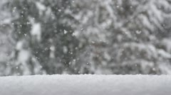 SLOW MOTION: Snow falling Stock Footage