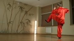 female martial artists in the room - stock footage