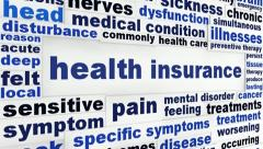 Health insurance medical message - stock footage