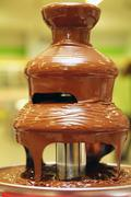 Chocolate fountain Stock Photos