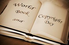 Stock Photo of world book and copyright day