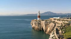 Europa Point lighthouse, Stock Footage