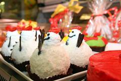 chocolate snowman - stock photo