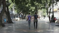 Paseo del Prado,Promenade Stock Footage