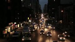 street traffic lights. transportation. city at night. urban district. rush hour - stock footage