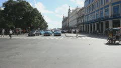 Paseo de Marti, Havana Stock Footage