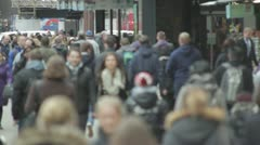 Anonymous High Street Crowd - London - Day Stock Footage