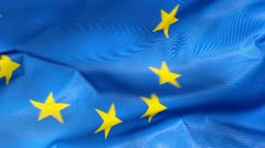 Eu flag in the wind Stock Footage