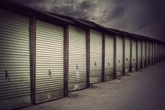 garage doors - stock photo