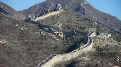 Great wall,China ancient defense engineering. Stock Footage
