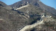 Stock Video Footage of Great wall,China ancient defense engineering.