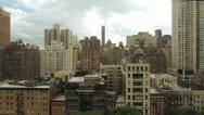 Stock Video Footage of new york city areal view skyline tracking shot 1080 HD