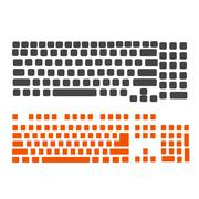 keyboard pc and notebook - stock illustration