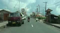 Bali drive Kintamani 1 Stock Footage