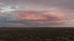 Karoo sunset with colourfull clouds  PAL Stock Footage