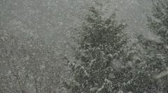 Slow motion heavy snow falling Stock Footage