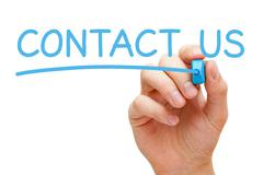 Contact us concept Stock Photos