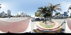 Miami Beach Panorama - stock photo
