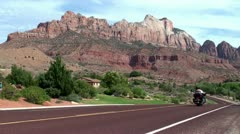 Zion Canyon Scenic Drive. Utah, USA Stock Footage