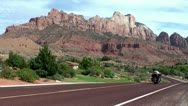 Stock Video Footage of Zion Canyon Scenic Drive. Utah, USA