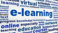 Stock Video Footage of E-learning word clouds message