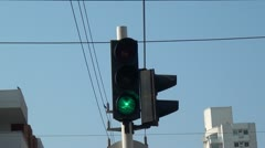 Traffic Signal Light, Semafor Stock Footage
