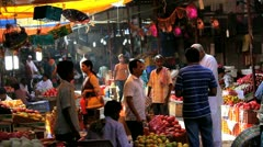 Wholesale Crawford Market, Mumbai, India Stock Footage