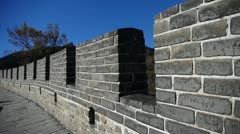 Great wall,China ancient defense engineering Stock Footage