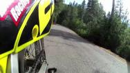 Stock Video Footage of COOL MOTORCYCLE POV FROM REAR IN TIME LAPSE MODE ON COUNTRY ROAD HD 1080