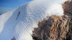 Antelope Island Ice and Snow Stock Footage